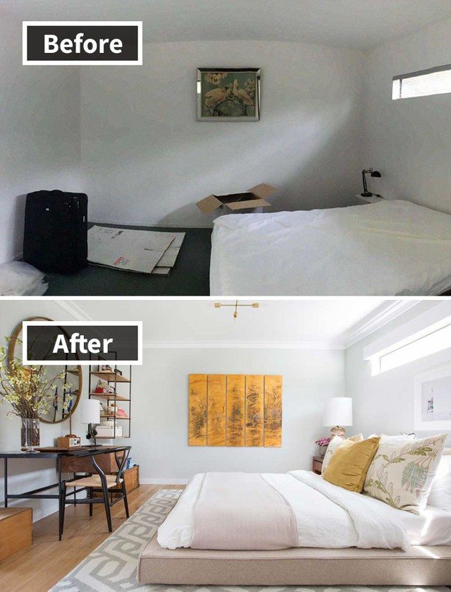 Sự khác biệt giữa căn phòng chỉ để ngủ và căn phòng để bạn có thể tận hưởng một giấc ngủ thư thái và dịu êm là thế này.
