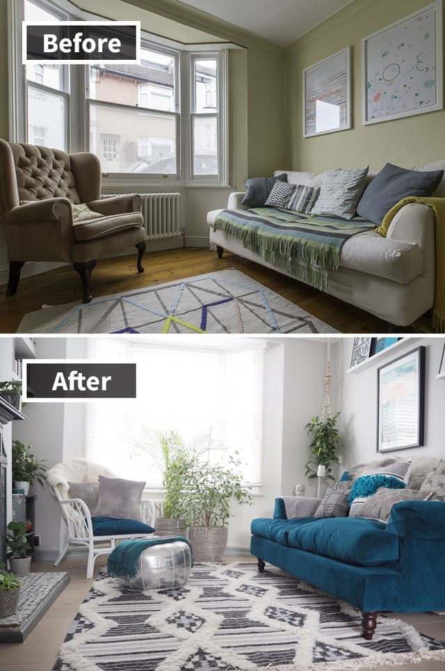 Sơn trắng tường nhà và thêm nhiều cây xanh là cách đơn giản và nhanh nhất để biến đổi căn phòng của bạn.
