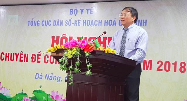 ThS Nguyễn Doãn Tú - Tổng cục trưởng Tổng cục DS-KHHGĐ phát biểu tại Hội nghị.