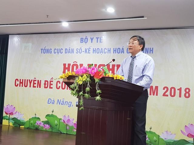 Ông Nguyễn Doãn Tú - Tổng cục trưởng Tổng cục DS-KHHGĐ phát biểu tại hội nghị. Ảnh: PV