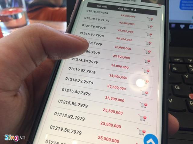 Giá SIM 11 số đẹp đang tăng nhiều lần trước thời điểm 15/9. Ảnh: Ngô Minh.