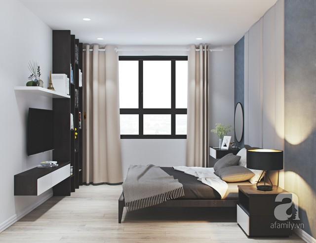 Phòng ngủ 2 con được thiết kế với tone màu trắng, xanh và hồng, kết hợp trang trí với những đồ décor ngộ nghĩnh và đáng yêu. Vì diện tích phòng cũng không được lớn lắm, vậy nên KTS tư vấn sử dụng giường tầng cũng khá chắc chắn và tiện lợi cho trẻ.