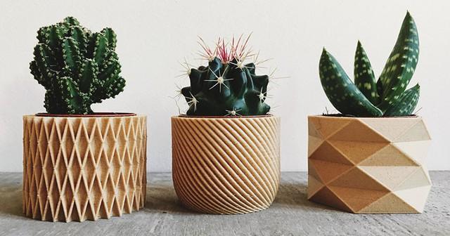 Bộ chậu trồng cây được thiết kế bắt nguồn từ phong cách origami kết hợp với cảm hứng hình học.