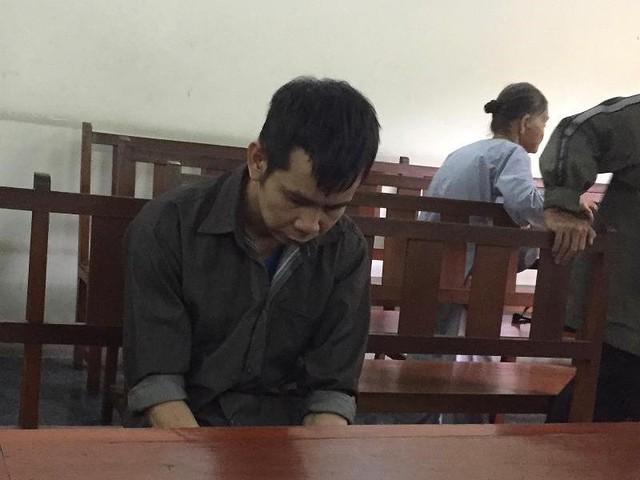 Bị cáo Trọng tại phiên xử phúc thẩm