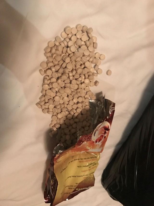 Ma túy dập viên được đóng bịch như bịch cà phê
