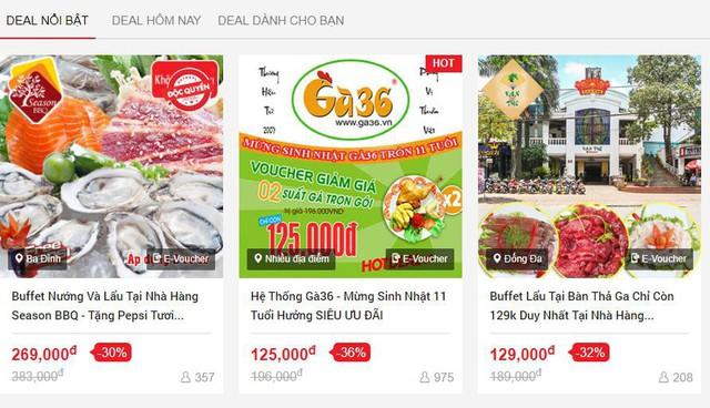 Một dạng bán E-voucher (phiếu mua hàng điện tử) trên các trang web mua bán