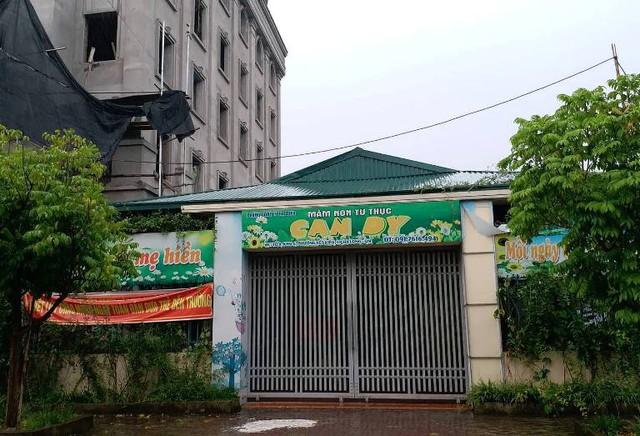 Trường mầm non tư thục Candy, nơi xảy ra sự việc bảo vệ dâm ô học sinh. Ảnh: T.N