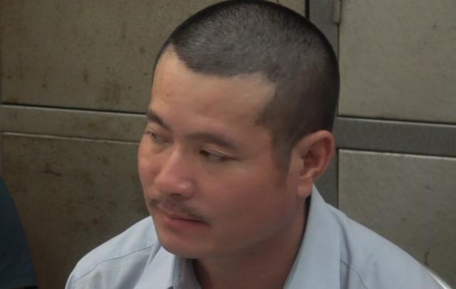Đối tượng Triệu Văn Hải tại cơ quan công an.     Ảnh: TL