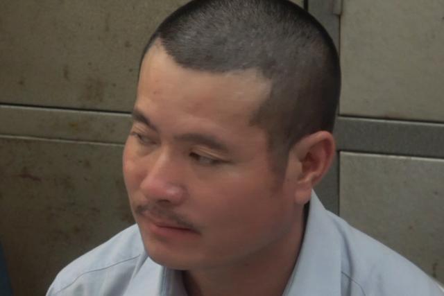 Triệu Văn Hải tại cơ quan điều tra. Ảnh công an cung cấp
