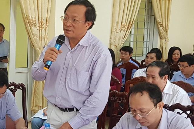 Ông Nguyễn Doãn Tú - Tổng cục trưởng Tổng cục Dân số phát biểu tại cuộc làm việc giữa Bộ Y tế và Trung tâm Y tế huyện Xuân Trường (Nam Định) ngày 11/9.