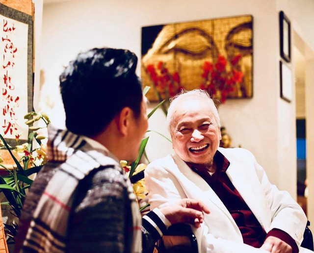Nhạc sĩ Lam Phương và khoảnh khắc vui bên Quang Thành
