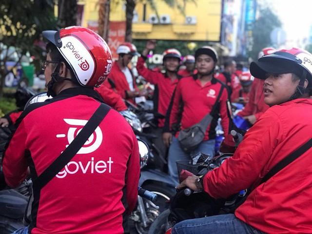 Go-Jek đã chính thức gia nhập thị trường Việt Nam từ đầu tháng 8 với tên gọi Go-Viet. Ảnh: Go-Viet.