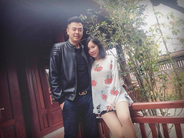 Vợ chồng MC Tuấn Tú.