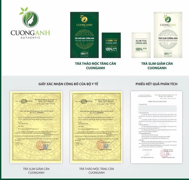 Bộ Y tế chứng nhận trà thảo dược Cường Anh hiệu quả và an toàn