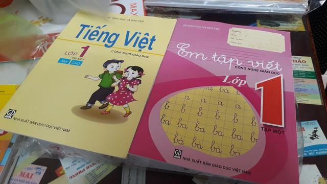 Sách Tiếng Việt 1 - Công nghệ giáo dục. Ảnh: TL