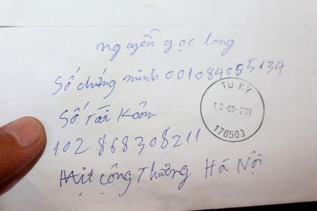 Toàn bộ số tiền của bà V. được chuyển vào STK mà các đối tượng cho. Ảnh: Đ.Tùy