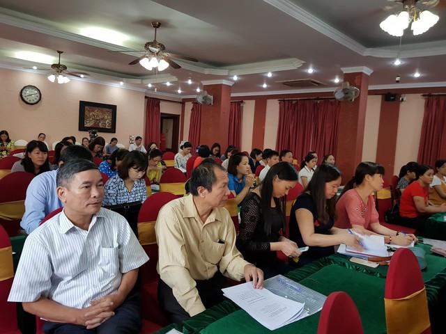 Các đại biểu và các đơn vị truyền thông tại buổi tập huấn.