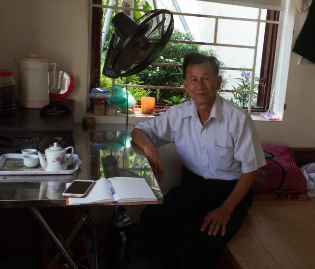 Bác Trương Ngọc Quang hiện đang là Bảo vệ tại ngôi trường cấp III nơi Chủ tịch nước từng theo học.