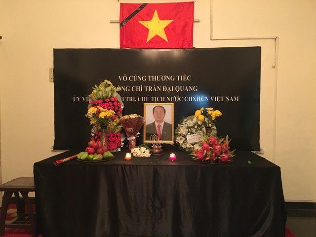 Lễ viếng Chủ tịch nước Trần Đại Quang được chuẩn bị trang trọng