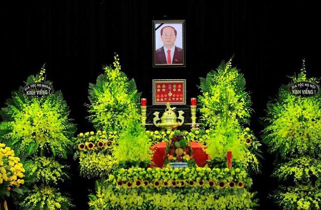 Nhà tang lễ Quốc gia, số 5 Trần Thánh Tông (Hà Nội), nơi tổ chức Quốc tang Chủ tịch nước Trần Đại Quang. Ảnh: TTXVN