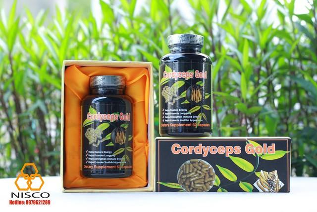 Thực phẩm bảo vệ sức khỏe Đông trùng hạ thảo Cordyceps Gold (60 capsules) nhập khẩu Mỹ 100%