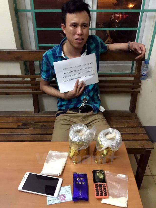 Đối tượng Nguyễn Đình Thanh bị bắt khi đang vận chuyển trái phép 1,1kg ma túy trong một chuyên án được PC47 triệt phá.