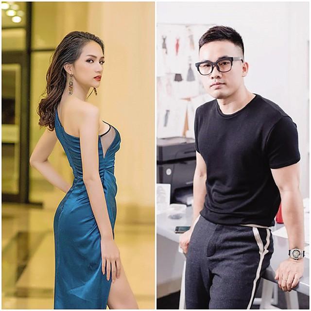 Hoa hậu Hương Giang và nhà thiết kế Hà Duy.     Ảnh: TL