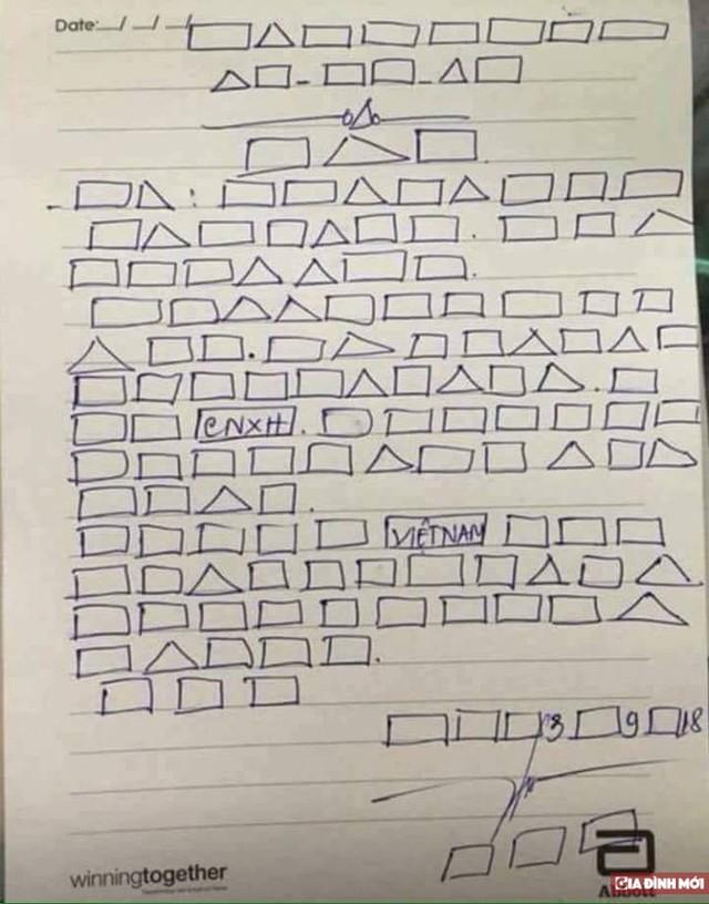 Đơn xin nghỉ phép, bài văn viết bằng ô vuông, tam giác chỉ là do cư dân mạng tự chế chứ hoàn toàn không có trong chương trình thực nghiệm