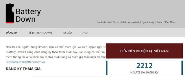 Đã có hàng nghìn khách hàng Việt tham gia... kiện Apple