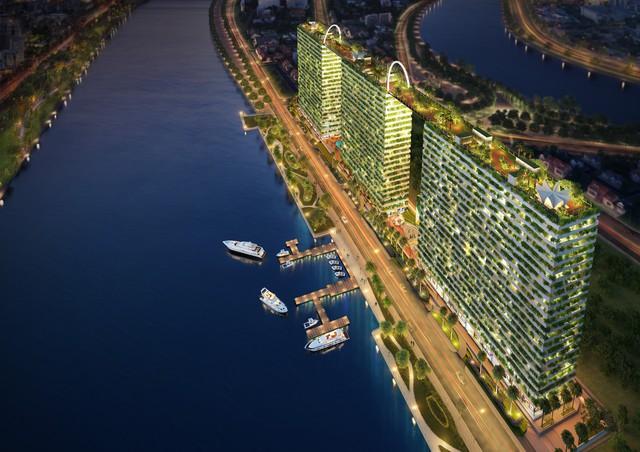 """Với ba mặt giáp sông tất cả căn hộ tại Diamond Lotus Riverside đều có """"view"""" sông thoáng đãng"""