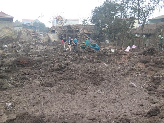 Hiện trường vụ nổ kinh hoàng khiến 9 người thương vong ở Bắc Ninh. Ảnh: Thanh Sơn