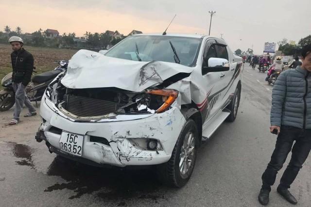 Chiếc xe điên gây tai nạn liên hoàn. Ảnh: Bạn đọc cung cấp