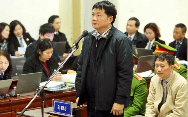 Ông Đinh La Thăng tại phiên tòa ngày 11/1. Ảnh: TTXVN