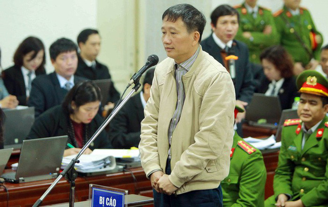 Ông Trịnh Xuân Thanh bị đề nghị mức tù chung thân. Ảnh TTXVN