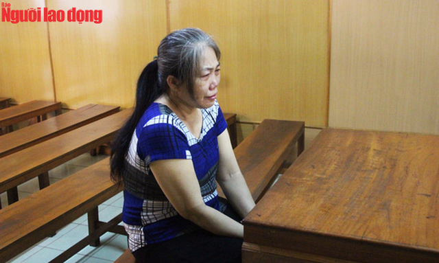 Bị cáo Phan Thị Kim Loan tại phiên tòa.
