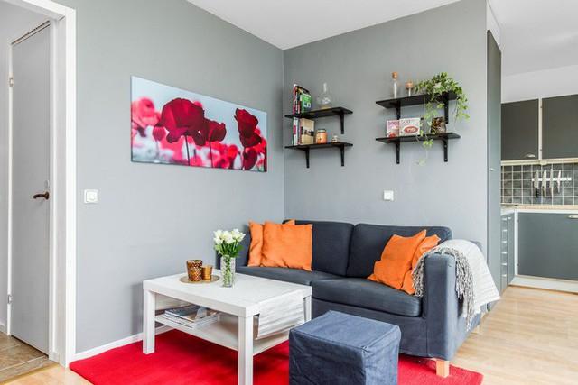 Sự tương phản tuyệt đối giữa từng món đồ bên trong phòng khách khiến chúng trở nên đặc biệt nổi bật.
