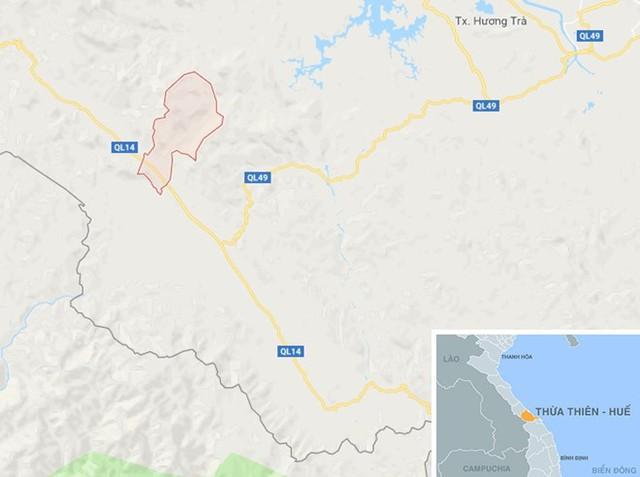 Xã Hồng Kim (huyện A Lưới), nơi xảy ra vụ việc. Ảnh: Google Maps.