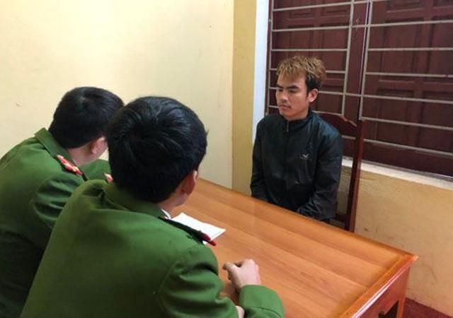 Lực lượng Công an lấy lời khai của đối tượng