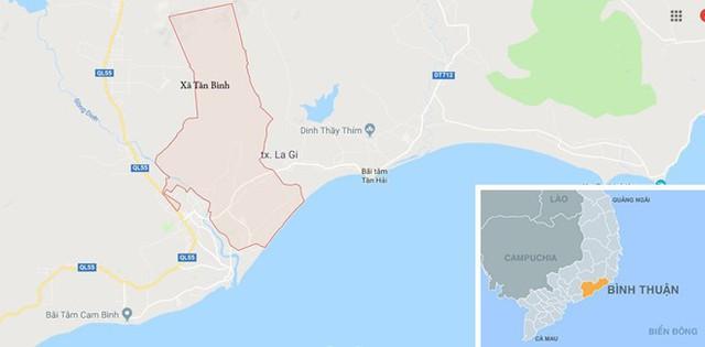 Xã Tân Bình, nơi xảy ra vụ tai nạn. Ảnh: Google Maps.