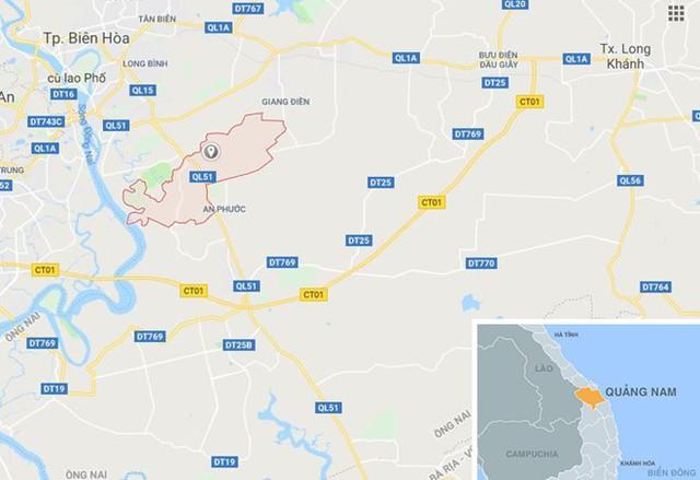 Xã Tam Phước, huyện Phú Ninh (Quảng Nam), nơi xảy ra vụ việc. Ảnh: Google Maps.
