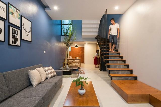 Cây xanh được trồng trong nhà, tạo cảm giác gần gũi với thiên nhiên.