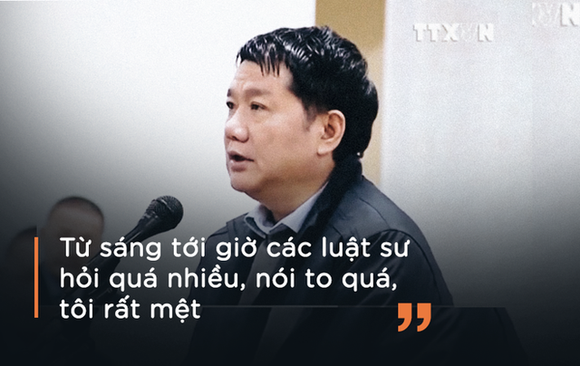 Ông Đinh La Thăng từ chối trả lời luật sư vì lý do sức khỏe tại tòa ngày 10/1.