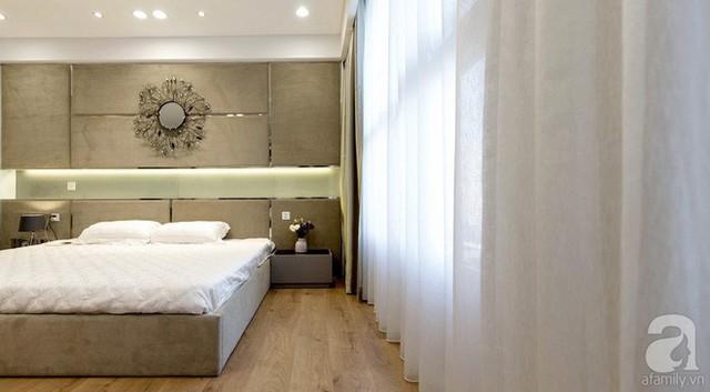 Không gian nghỉ ngơi được tiếp nối màu sắc với khu vực phòng khách và phòng ăn.