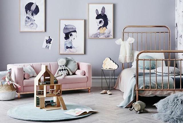 Phòng của bé cũng la một không gian lý tưởng để bạn sử dụng gam màu pastel.