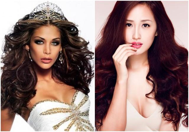 Hoa hậu Hoàn vũ Dayana Mendoza.và Hoa hậu Việt Nam Mai Phương Thúy, hai giám khảo mới của cuộc thi. Ảnh: BTC.