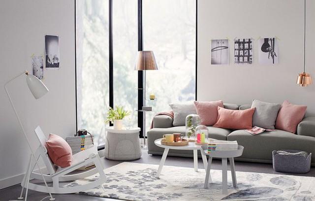 Hồng phấn, vàng nhạt, xanh lá cây, xanh da trời là những màu pastel được sử dụng nhiều nhất trong thiết kế và trang trí nội thất.