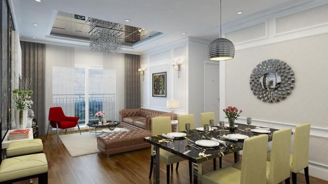 Hình ảnh thực tế tại căn hộ TNR The GoldView theo phong cách tinh tế và hiện đại