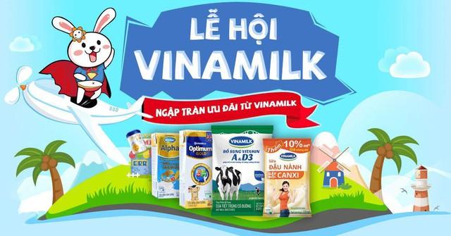 """Chương trình khuyến mãi """"Lễ hội Vinamilk"""" do VuiVui.com và Vinamilk phối hợp triển khai"""