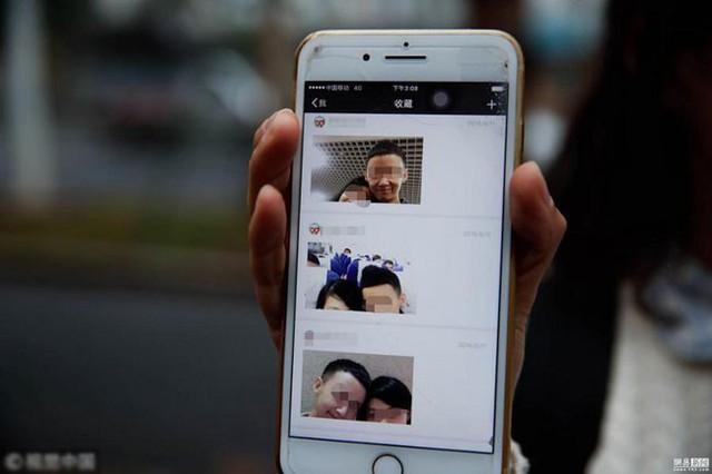 Những bức ảnh cả hai chụp chung được Wang lưu giữ trong điện thoại.