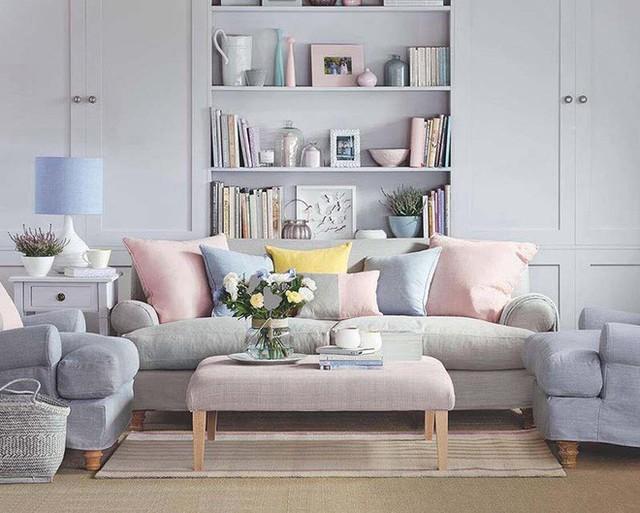 Những món đồ nội thất mang sắc pastel nhạt nhẹ cũng là lựa chọn yêu thích của rất nhiều gia đình.